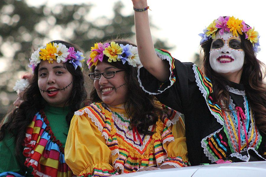 Students dress up in the parade on Wednesday, Oct. 19 in celebration of the upcoming holiday Dia de los Muertos, otherwise known as Day of the Dead.