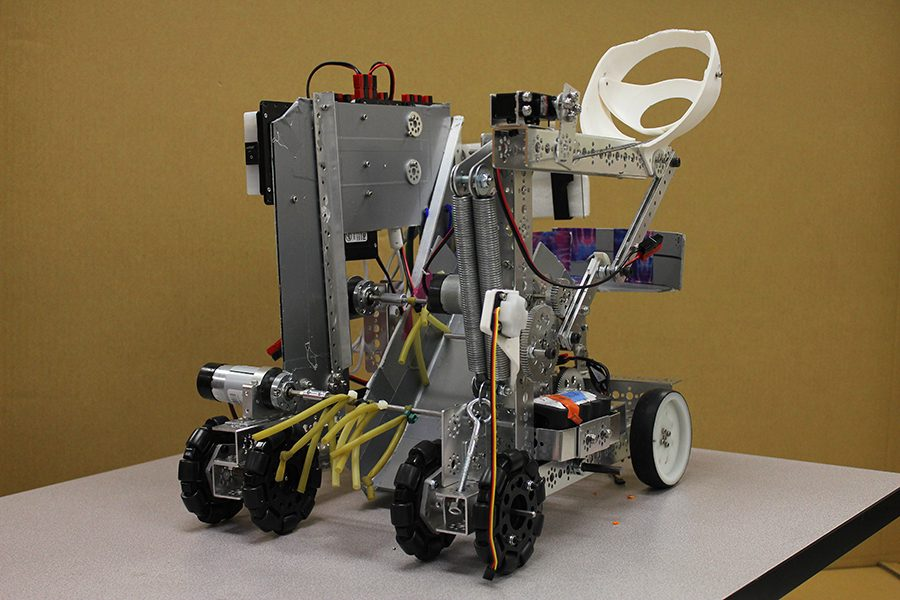 The robot made by the robotics team is  ready to compete at Saturdays FTC competition.