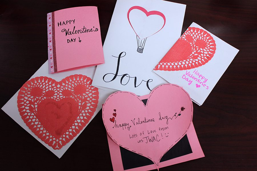 JWAC has been making Valentines at weekly meetings for the nursing home.