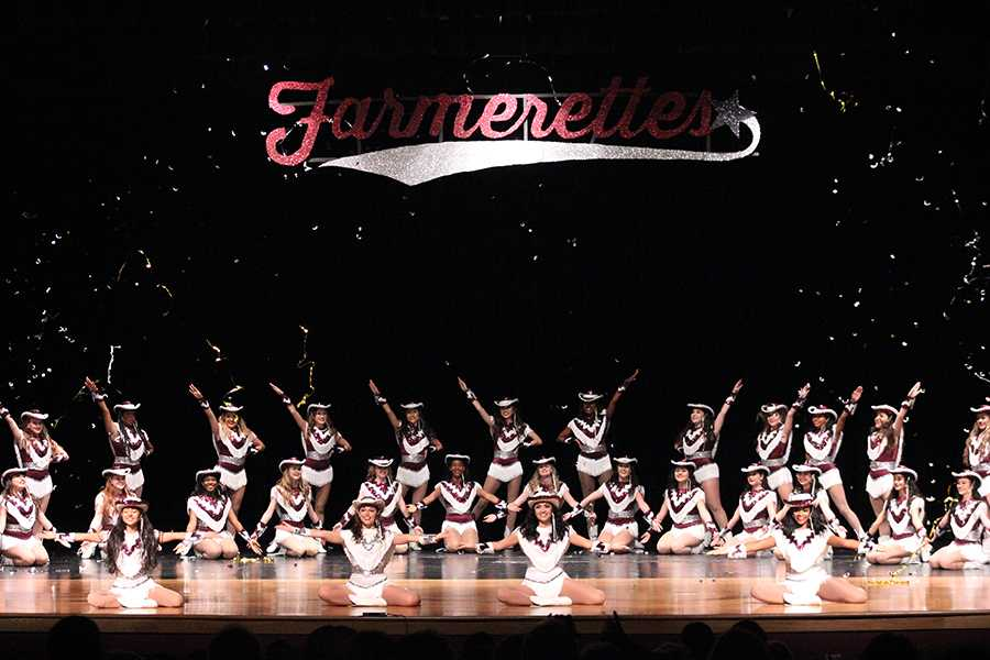 The Farmerettes end the spring show with their performance to Move On Up.