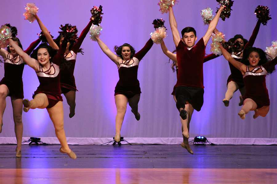 Along with fellow Diamond members JJ Martinez grand jetes during the performance to Til its Gone.