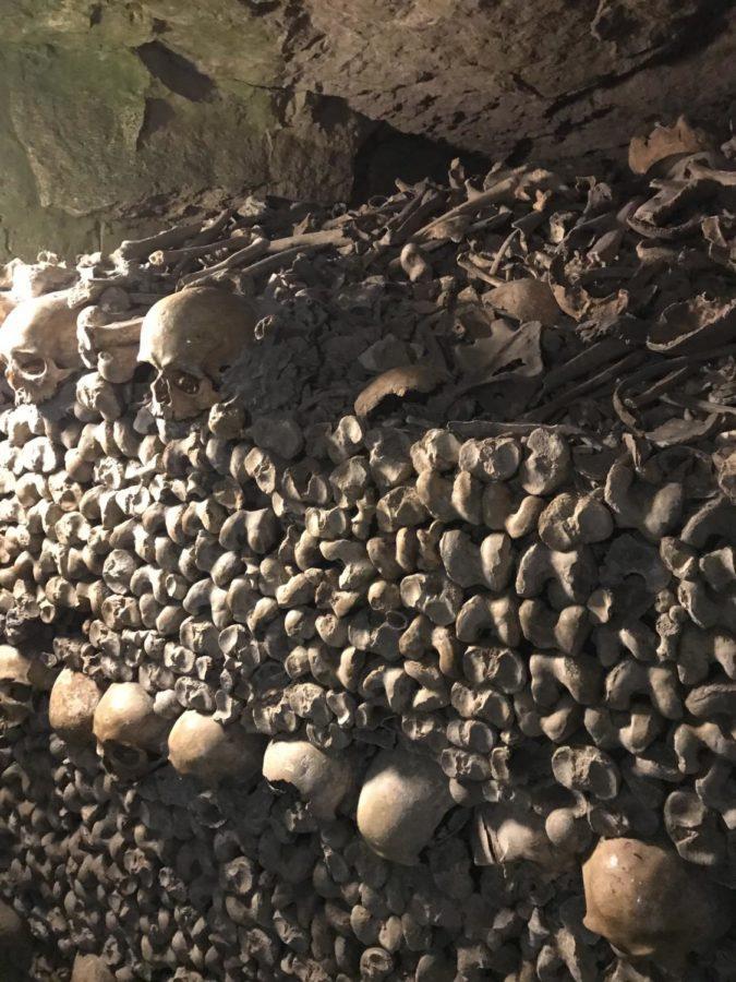 bones in the catacombs