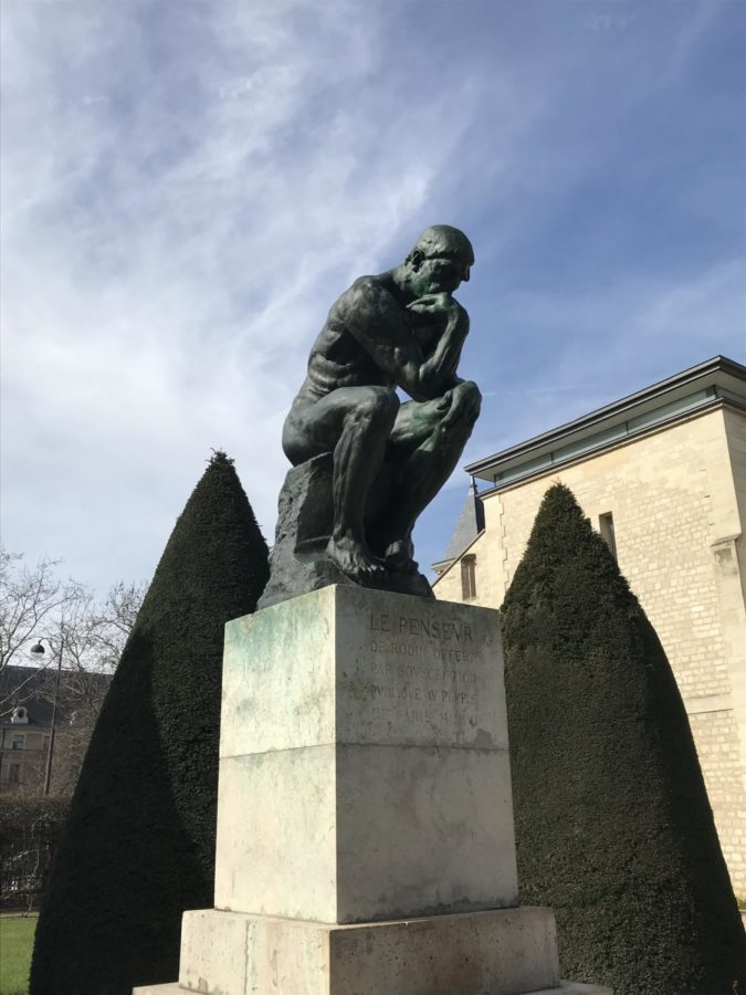 the thinker at the musee rodin