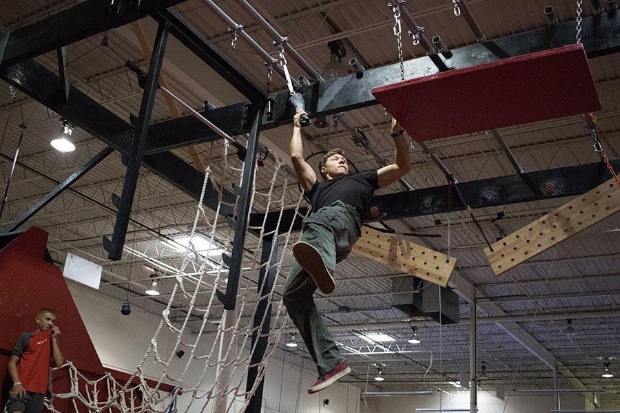 Senior Woodrow Hazel trains to compete at a gym in Dallas. Courtesy of Tjay Hazel.