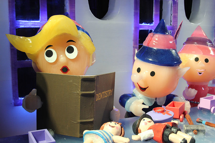 Hermey the Elf shows an interest in being a dentist rather than making toys with other elfs.