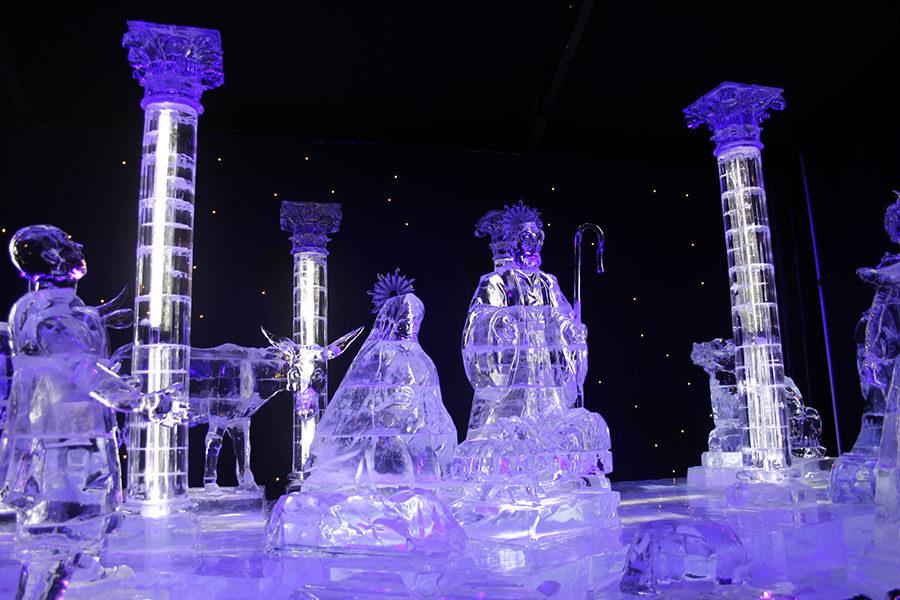 ICE! Lone Star Christmas recreates the famous nativity scene of when Jesus was born.