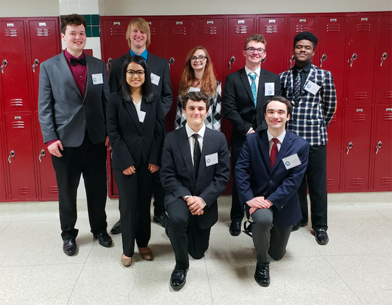 The AcDec team poses at the Regional IX meet in Mesquite, Texas. Courtesy of Shari Mayes.