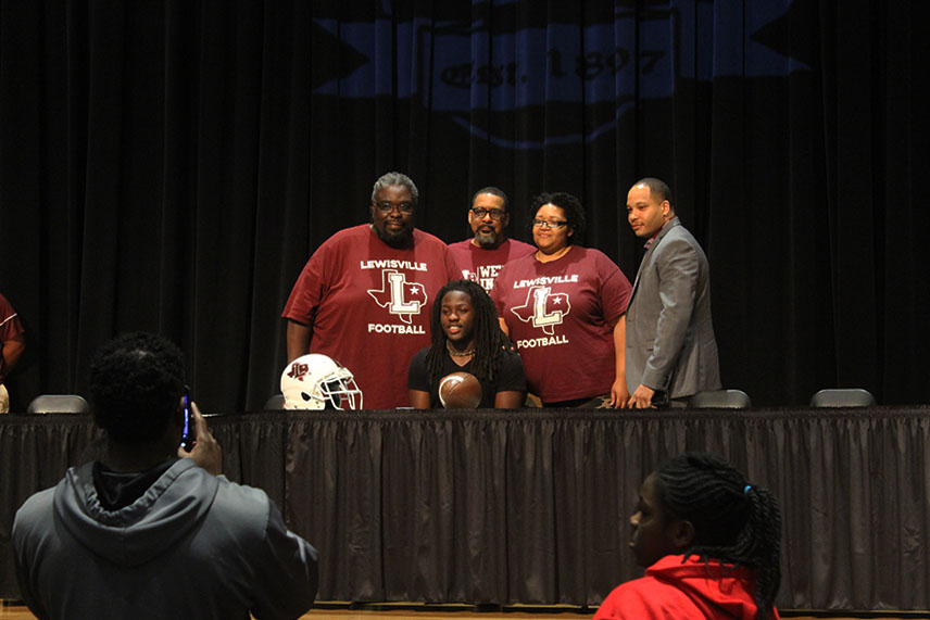 Senior AJ Newsome will play football while attending Mississippi Valley State University.