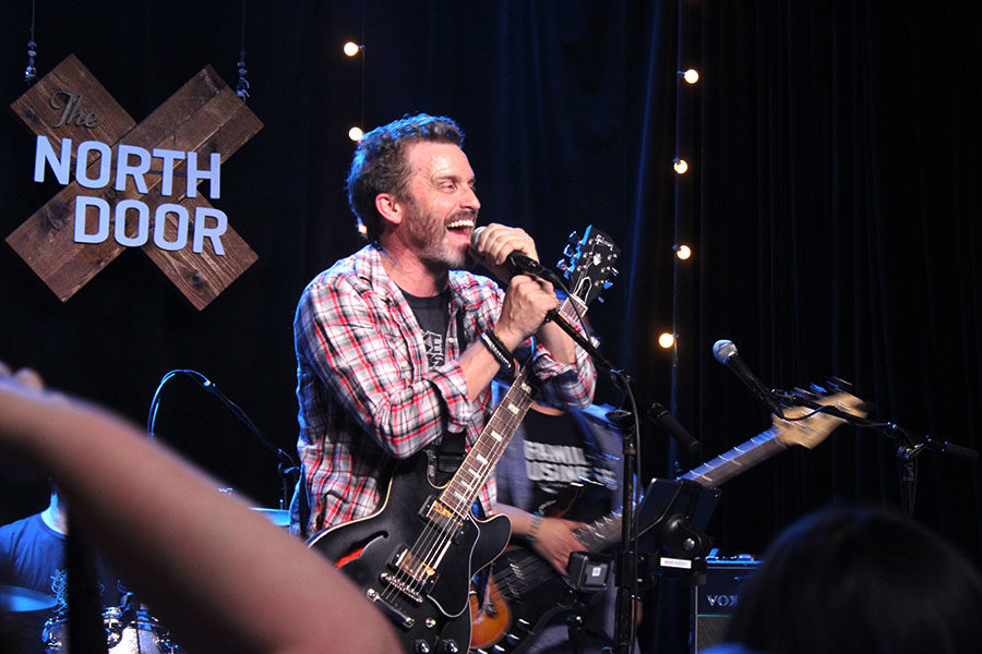 Rob Benedict smiles to a fan during Crocked Wheel.