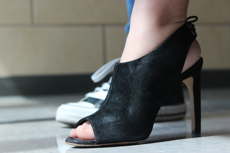 Not even giving a second thought, I chose the Jessica Simpson heel because I could wear those heels with everything.