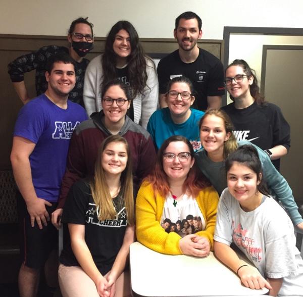 Front row: Kamry Applewhite (14), Jentry Applewhite (19), Davie Applewhite (12). Second row: Aaron Applewhite (20), Tabitha Brown (27), Jill Van Klink (31), Austyn Applewhite (16), Lark Applewhite (23). Back row: Kylie Applewhite (29), Jacey Applewhite (21), Will Applewhite (27). Courtesy of Jill Van Klink.