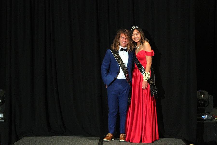 Seniors Michael Mendonca and Megan Phan are announced Prom Royalty.