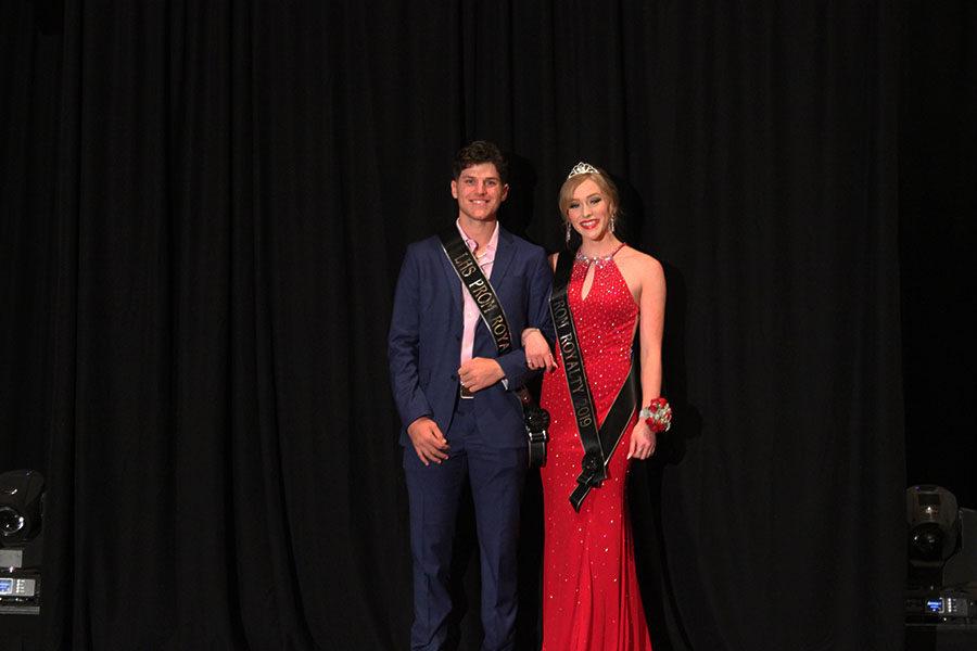 Seniors Joey Rochette and Clara Raper are announced Prom Royalty.