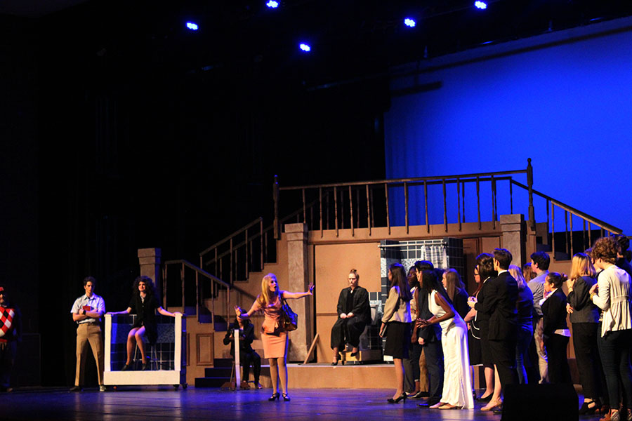 The Legally Blonde cast rehearses after school on Thursday, Nov. 14.