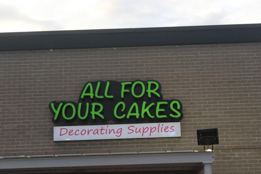 The entrance to All For Your Cakes.