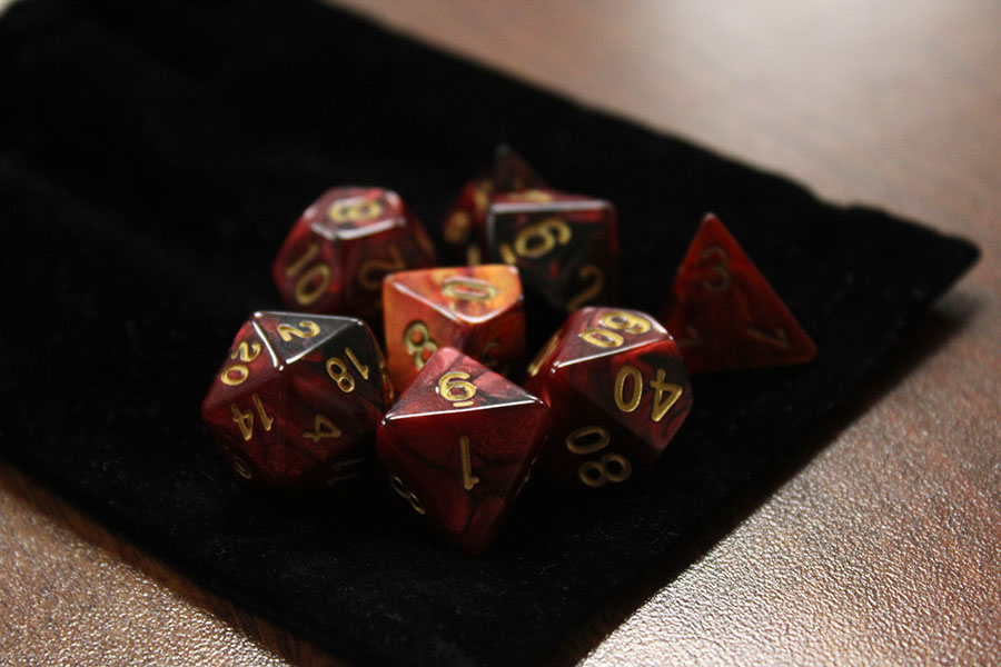 It has become my method of expressing my gamer imagination and frankly, I just like the sound the dice makes.