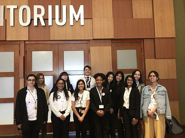 HOSA students competed in the area competition on Friday, Jan. 24 and Saturday, Jan. 25. Courtesy of Dawn Chegwidden.