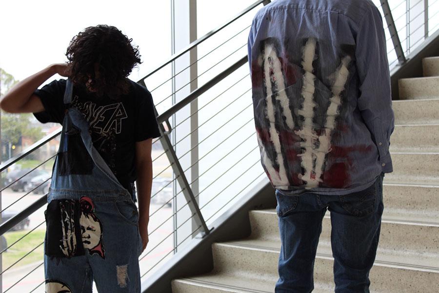 Juniors Jayzey Vasquez and Armando Aguilar model SeekValeur clothing items.