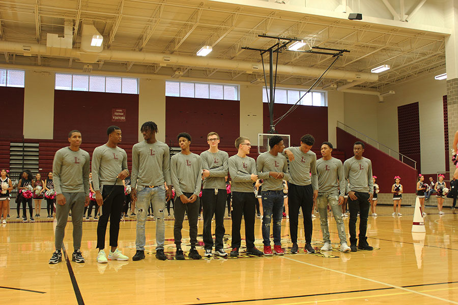 The basketball game is introduced.