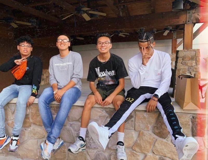 Senior Danny Ngo poses with friends. Photo courtesy of Danny Ngo.